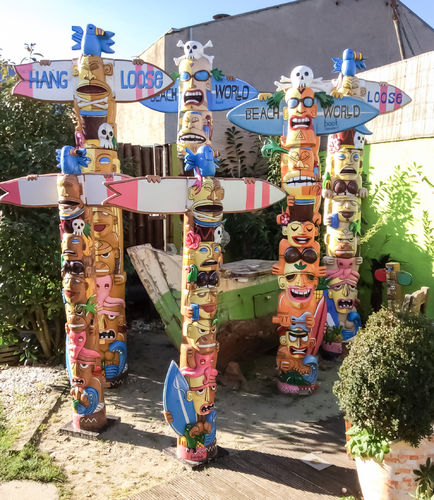 Beach Totem Special Order for Exhibition 2018 in Düsseldorf - Little Big Horn