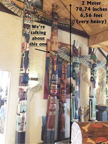 Totem Indian Shop Little Big Horn 4 Meter 157.48 inches Totem Pole 13.12 ft 2 pieces