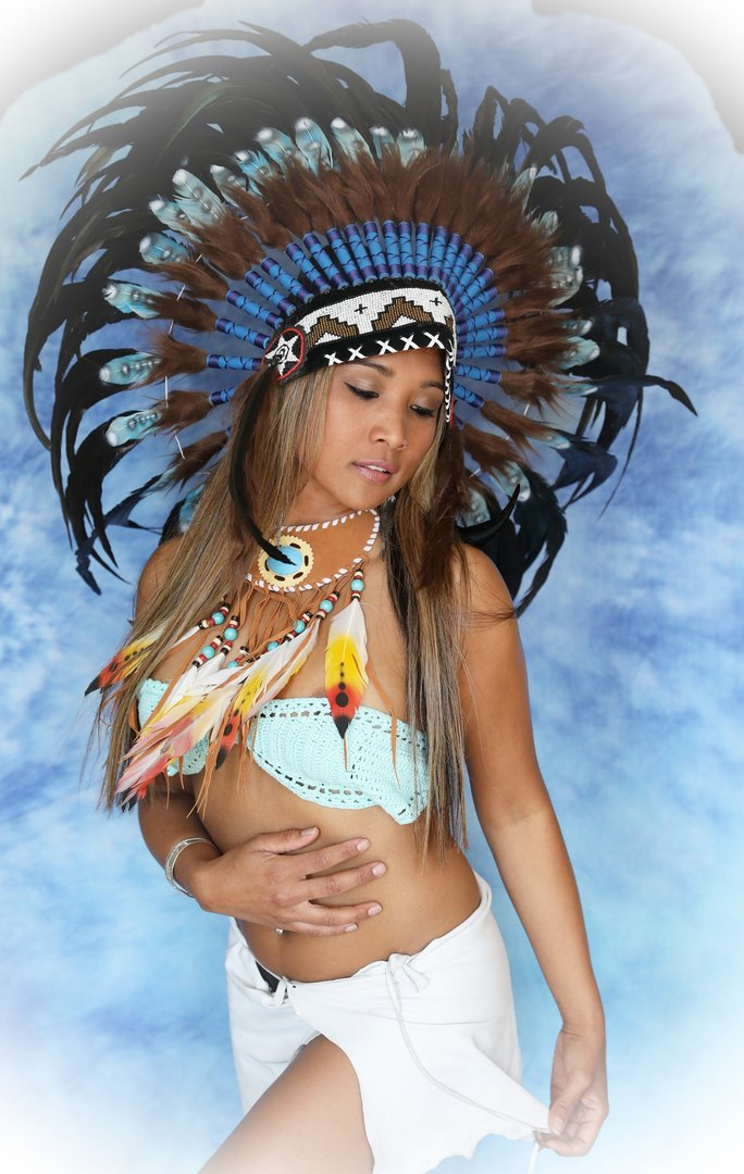 Indian store war bonnet Real Feathers american headdress