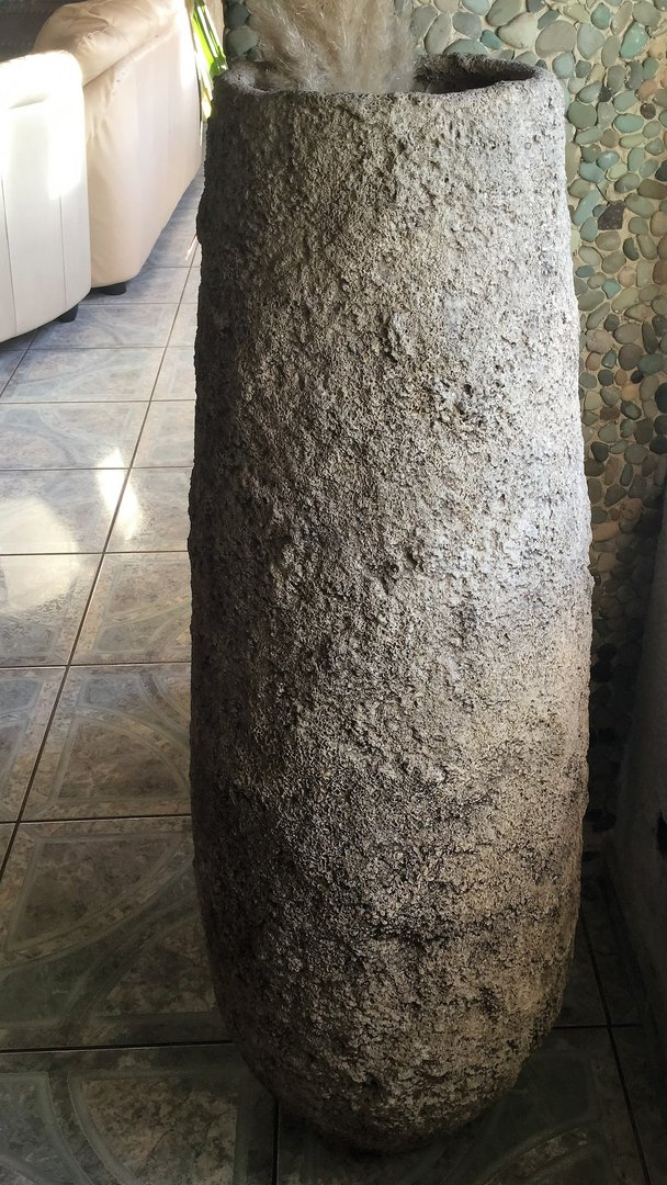 Fossil Vase Beautiful Pottery Great Design From Bali 1.70 Meter