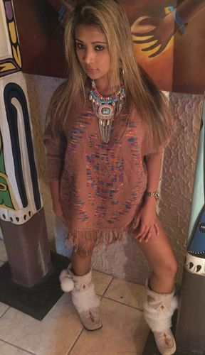Poncho War bonnet Coiffes indienne Indian costume women New Carnival LBH