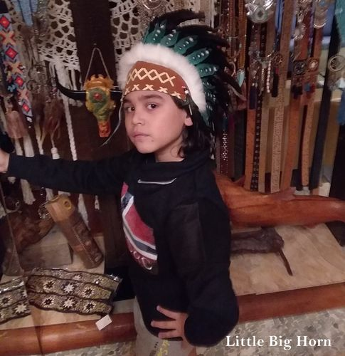 kids warbonnet Indian store american headdress Coiffe Indienne Little Big Horn