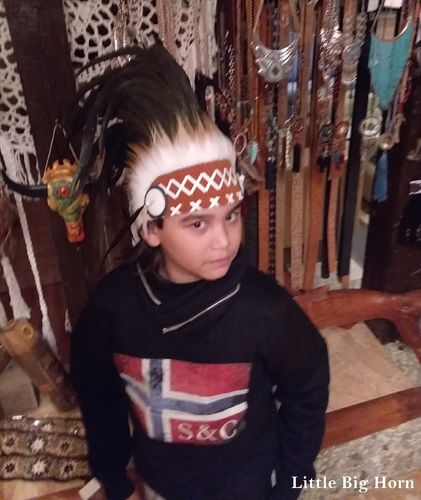 kids warbonnet Indian store american headdress Coiffe Indienne Little Big Horn Collection
